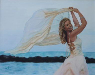 L'insostenibile leggerezza di una sposa (autoritratto), 2009, olio su tela, cm 40x60