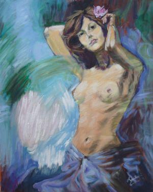 Nudo, esercitazione - 2010, olio su tela, cm 60x40