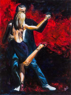 Linguaggio dei corpi: tango, 2011, olio su tela, cm 80x60