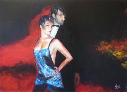 Linguaggio dei corpi, 2011, olio su tela, cm 50x70