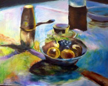 Omaggio a Matisse, 2012, olio su tela, cm 40x50