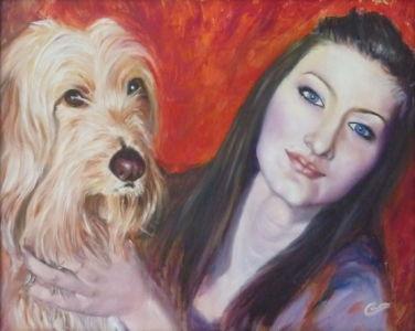 Patrizia e Bef, 2014, olio su tela, cm 40x50