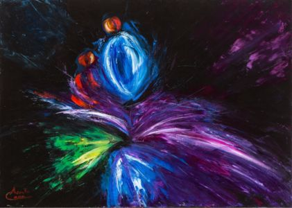 Iris Danzante, 2012, olio su tela, cm 50x70