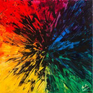 Nero, 2012, olio su tela, cm 40x40