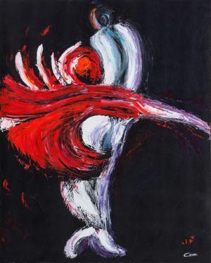 RossoTango, 2012, olio su tela, cm 100x80