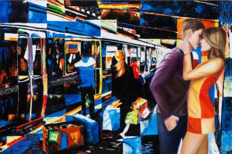 I ragazzi che si amano, 2013, olio su tela, 80x120