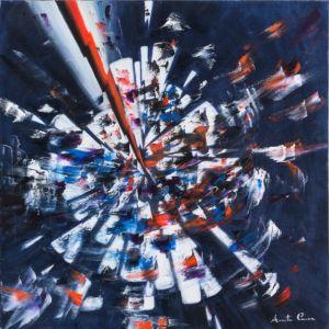 Impeto e ira, 2013, olio su tela, cm 70x70