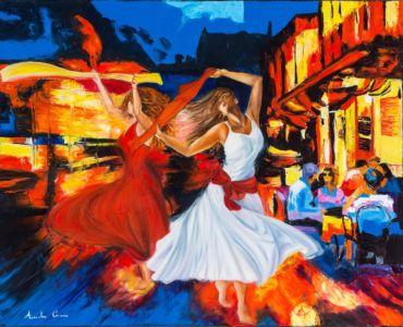 Travolgente pizzica, 2013, olio su tela, cm 80x100