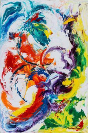 Infinite vibrazioni, 2014, olio su tela, 60x40