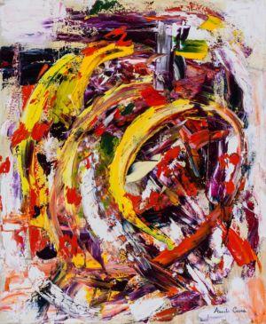 Luci nel caos, 2014, olio su tela, cm 60x50