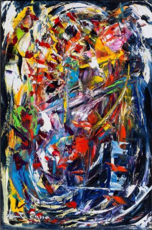 Furious soul,. 2015, olio su tela, cm 60x40