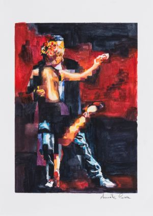 Studio tango 05, 2016, acquerello su carta, cm 39x30