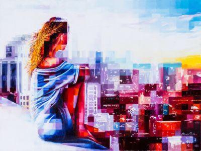 Dreamcity, 2019, olio su tela, cm 60x80
