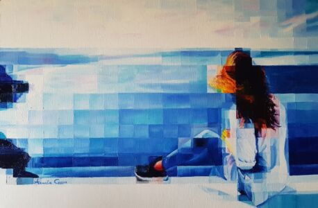 2020 - Blue Horizon - 40x60 - Olio Su Tela. Bassa