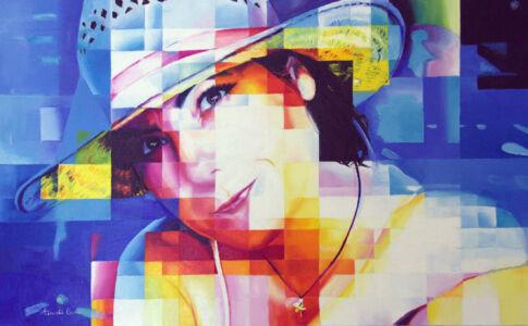 Francesca (ritratto), 2020, olio su tela, cm 50x80