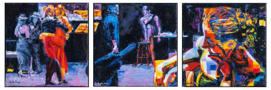 Anima che attraversi la vita, 2015, olio su tela, trittico cm 20x20 x3