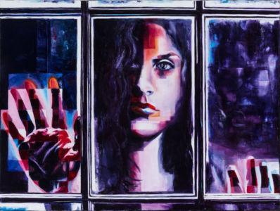 Dietro la finestra, 2016, olio su tela, cm 60x80