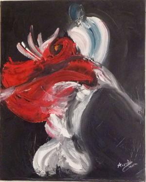 Linguaggio dei corpi. Evoluzione, 2011, olio su tela, cm 30x24