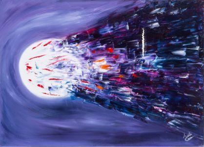 Fuga verso la libertà, 2012, olio su tela, cm 50x70