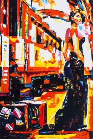 Fuga, 2014, olio su tela, cm 120x80