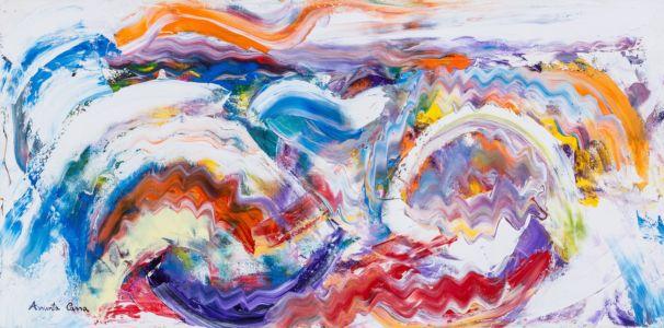Spensieratezza, 2014, olio su tela, cm 30x60