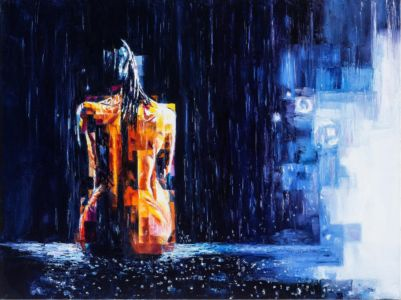 Piove, 2015, olio su tela, cm 60x80x3,5