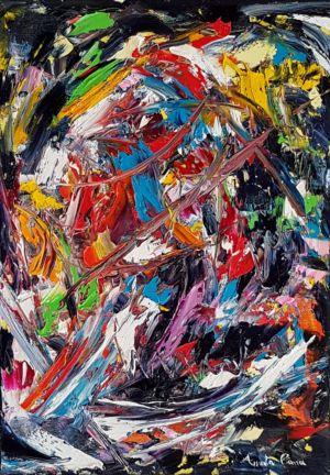Tempesta, 2015, olio su tela, cm 50x35