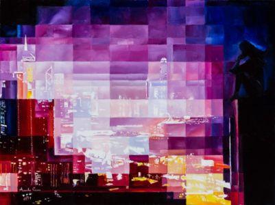 Heartcity, 2019, olio su tela, cm 60x80