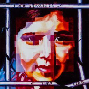 Malala. Stronger than fear 2020, olio su tela, cm 100x100