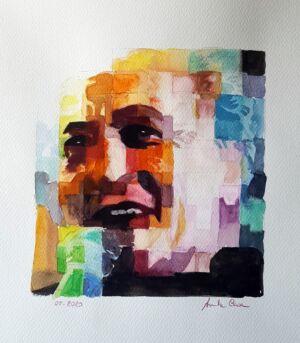 Mimmo Locasciulli (ritratto) 2020, Acquerello Su Carta, cm 30x34