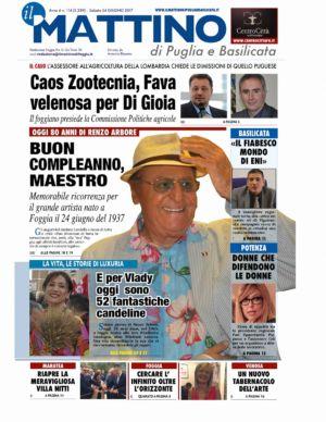 Il Mattino di Puglia e Basilicata 24 giugno 2017