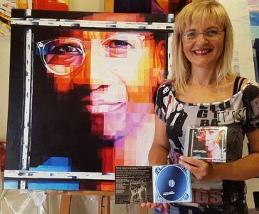 """Il CD """"Metaphors"""" Di Alphonso Johnson Con Il Mio Dipinto Originale."""