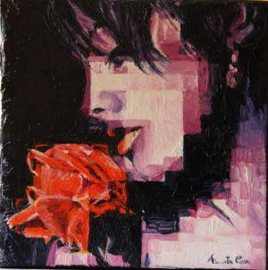 Profumo di rosa, 2014, olio su tela, cm 20x20